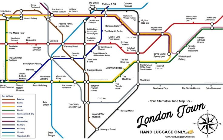 This Alternative London Underground Map Shows You What To See At Every Tube Stop In Central London - Hand Luggage Only - Travel, Food & Photography Blog
