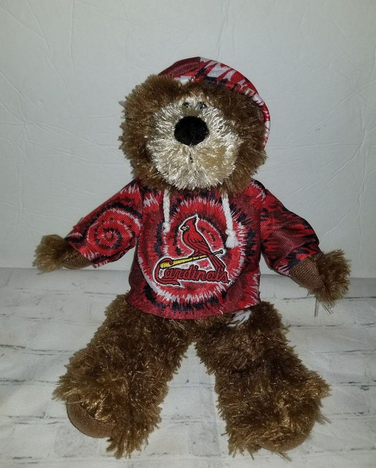 "St. Louis Cardinals Plush Teddy Bear W/Hoodie 14"" by Good Stuff MLB Merchandise  #GoodStuff #StLouisCardinals"