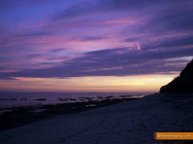 Violet Sunset over Pandawa Beach, Ungasan –  Kutuh Seaweed Farm, Bali, Indonesia. Photo by Benny Risanto www.passionoftheday.com