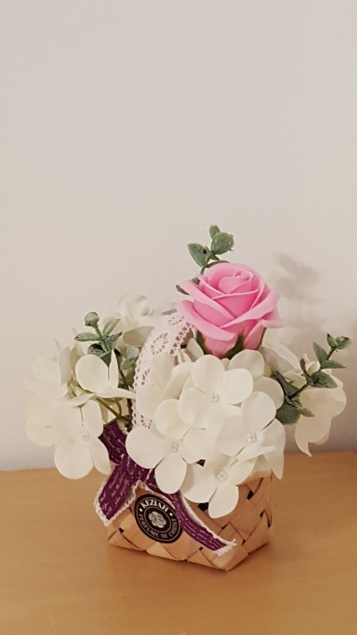"""- 1 rose & 2 hydrangea soap flowers assorted color flowers. - Measures appoximately 7 1/2""""(19cm) tall 6""""(15cm) wide - Includes at least 3 different Bushes and Bushes will vary - ITEM # : M1609 - Price : $25 - Delivery : fee not included email us for detail of delivery #www.keziaherez.com #Order keziaherez@gmail.com #mother's day gift #happybirthday gift #valentinesday gift #soap flower #love #flower stagram #flower"""