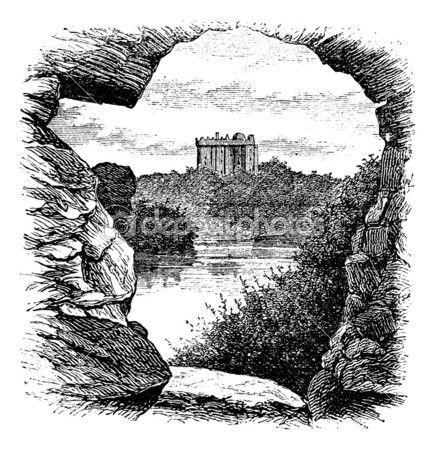 красноречия замок Бларни, Корк, Ирландия, старинные гравюры в 189 — Векторная картинка #6718654