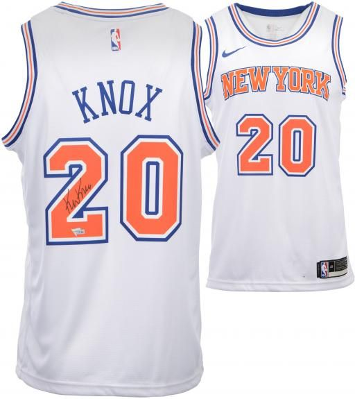 d6e8b2662 Kevin Knox New York Knicks Autographed White Nike Swingman Jersey -  Authentic Signed