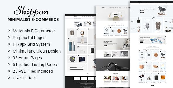 Shippon | Minimalist eCommerce PSD Template - Retail PSD Templates Download here : https://themeforest.net/item/shippon-minimalist-ecommerce-psd-template/20601570?s_rank=95
