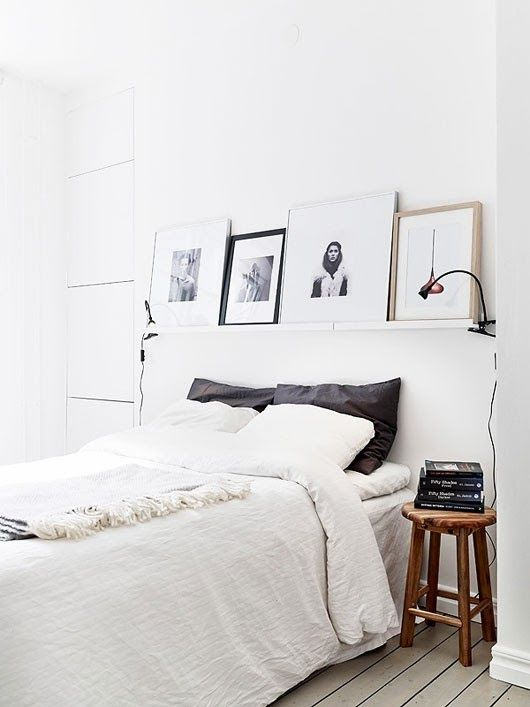 Pictures above bed.