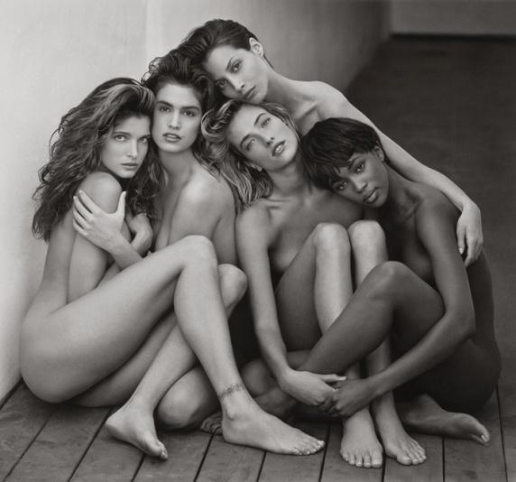 Stephanie, Cindy, Christy, Tatjana, Naomi, Hollywood, 1989 - Herb Ritts Foundation / The J. Paul Getty Museum, Los Angeles