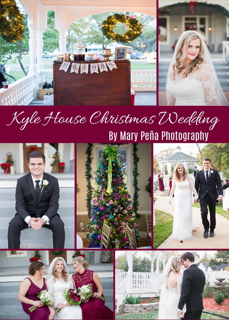 An Aggie Christmas wedding at The Kyle House in College Station, Texas. Shot by Mary Peña Photography.