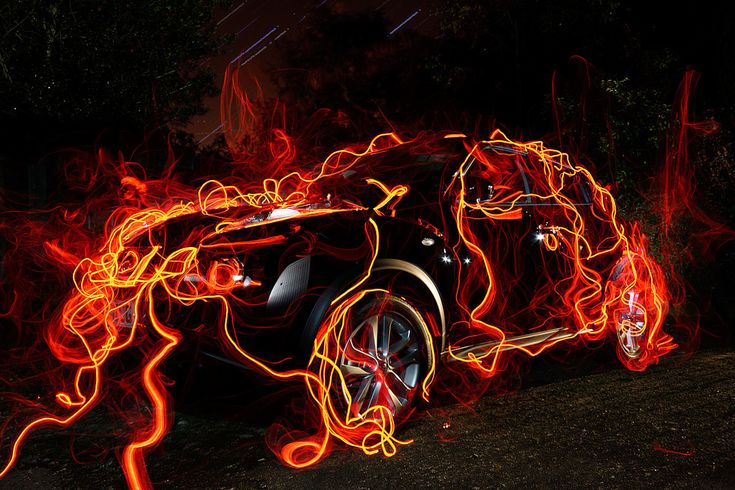 https://flic.kr/p/8HXrfx | Juke Glow | Quick test shot and stack of 130+ 10sec exposures of lighting the car.