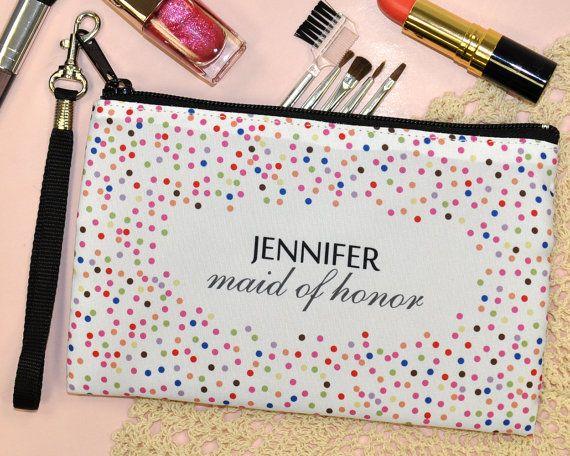Monogram Cosmetic Bag custom wedding by WeddingPrinterStudio, $9.50