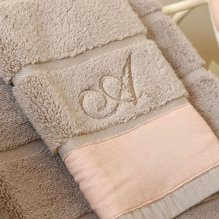 #Asciugamani hanim flax con fascia e cifra nella spugna by Hamam #bathroom #handtowel #bathtowel