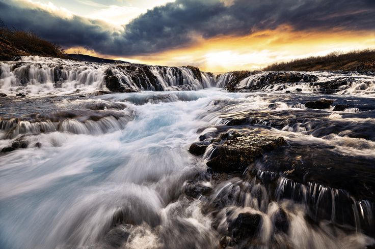 Bruarfoss Iceland by Etienne Ruff