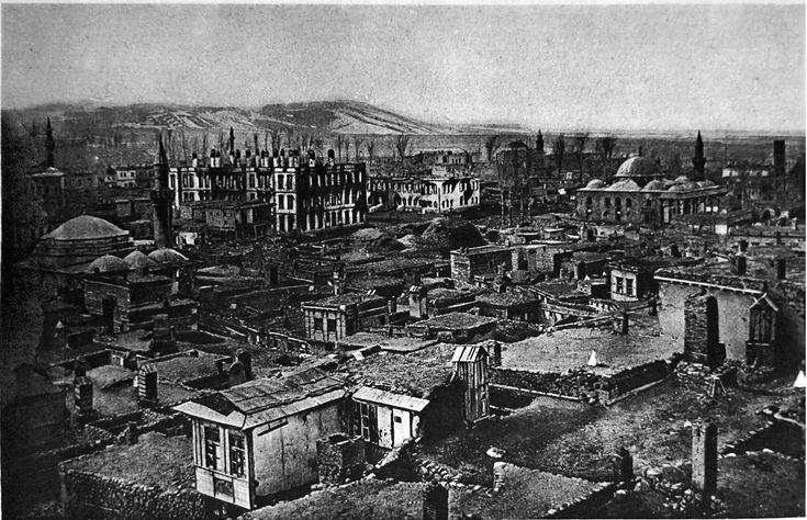 WW1,Eastern front, Ruins of Erzurum. Кавказский фронт (Первая мировая война) - История России до 1917 года
