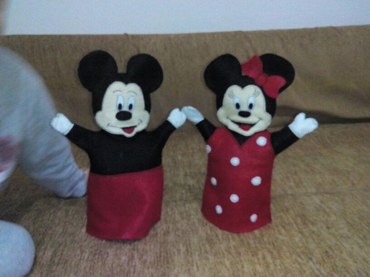 Κουκλες χεριου Mickey & Minnie
