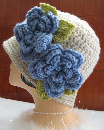 Crochet Cloche Vintage Style Flapper Hat in by chickiescrochet, $38.00