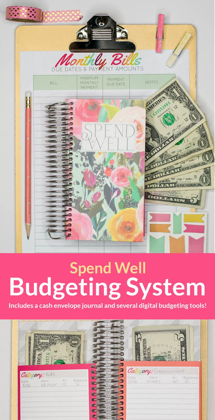 Build the best budget for your family with this awesome Spend Well Budgeting System. It includes a cash envelope journal and other tools to help you on your finance journey! Click through to get yours now! #budget #budgeting #personalfinance #afflink