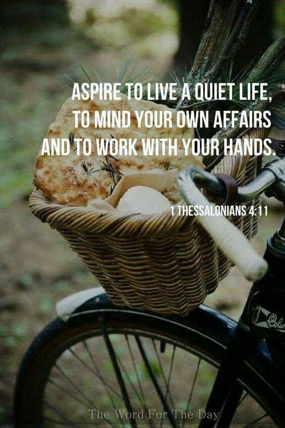 1 Thessalonians 4:11
