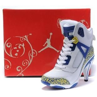 http://www.asneakers4u.com/ Air Jordan 3.5 High Heels White Blue Yellow