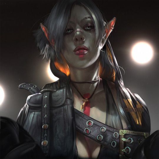 Fantasy Fight Club - Dark Elf, by Riana Møller