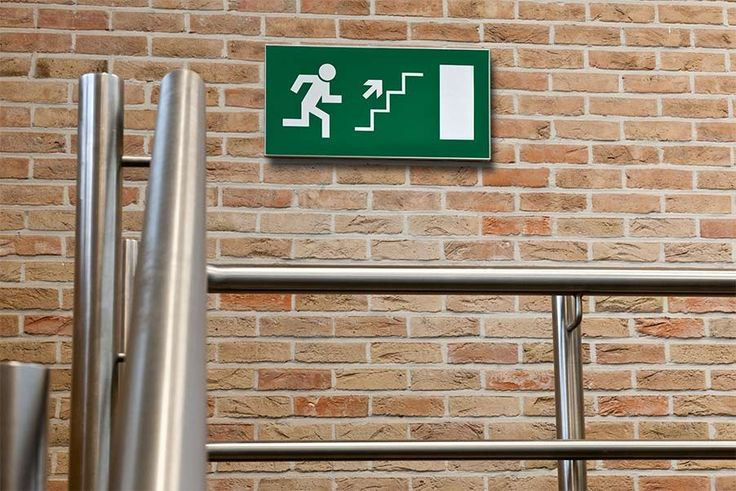 Emergency door sign (I-sign)