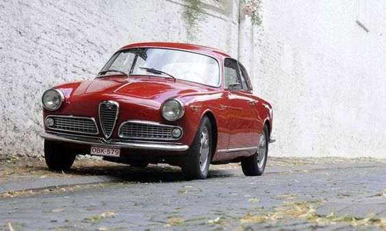 This 1958 Alfa Romeo Giulietta Coupe Sprint Veloce would be a fitting entrant in any number of historic rallies.