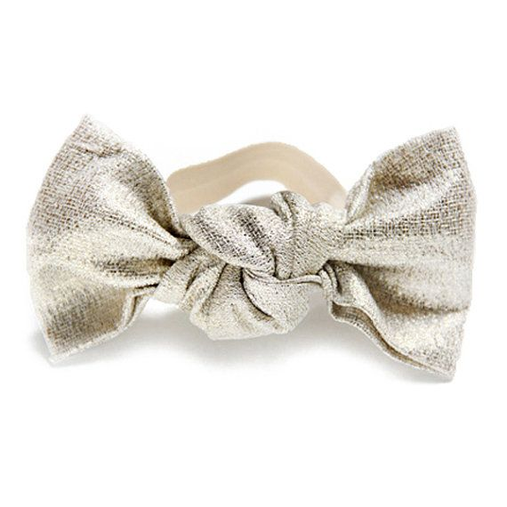 Gold Sparkle Bun Bow by GinaMadeItLLC on Etsy