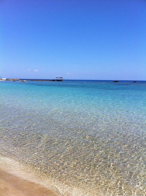 Beach at Famagusta Cyprus #beach #bluewater #cyprus