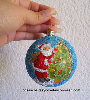 Recicla tus esferas viejas de navidad  Recycle your old Christmas spheres