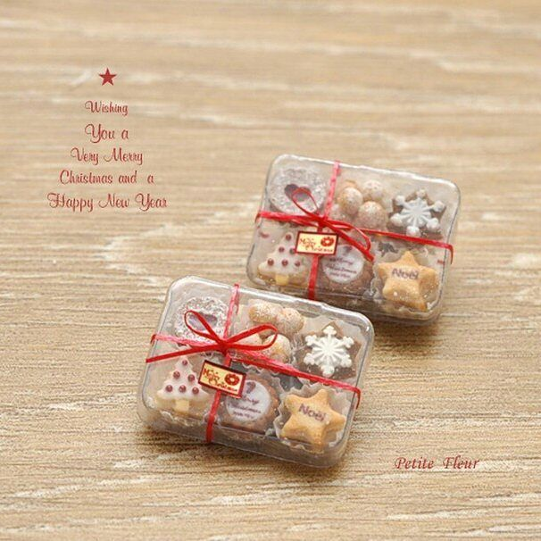 2017.12 Miniature Christmas Cookies ♡ ♡ By Petit Fleur