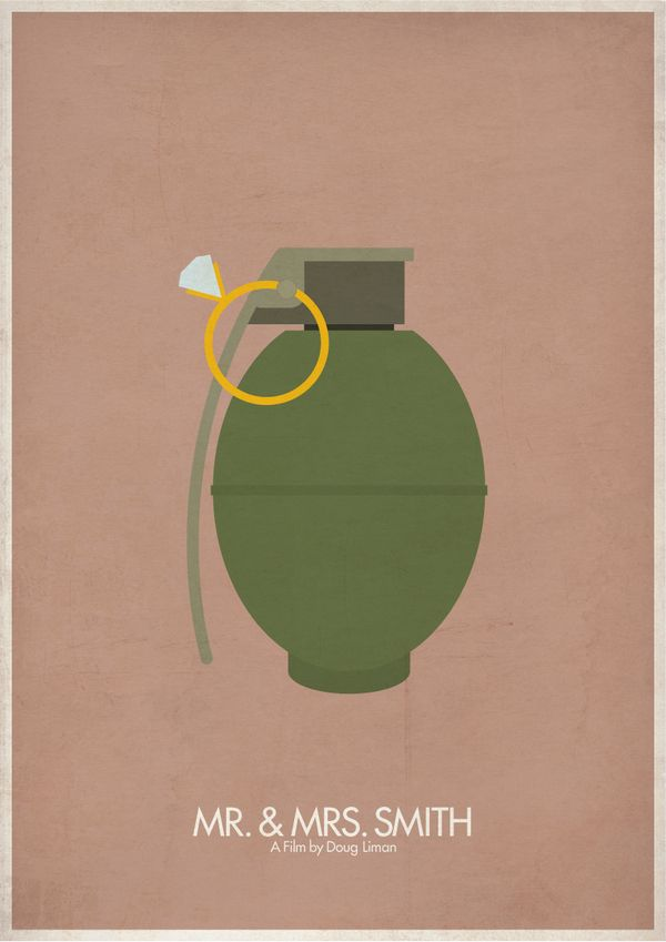 Mr. & Mrs. Smith (2005) - Minimal Movie Poster by Brett Thurman #minimalmovieposters #alternativemovieposters #brettthurman