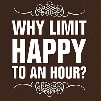 Why limit happy to an hour?We don't on www.TemeculasTastiestTours.com Wine beer and tapas Friday night happy hour.  join us.