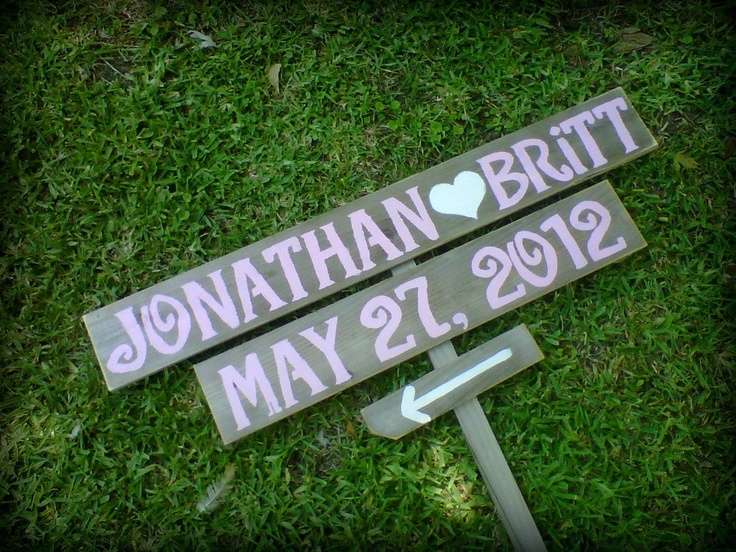 Wedding Signs ANY COLOR Pink Blue Yellow Green LARGE Hand Painted Reclaimed Wood Rustic Weddings
