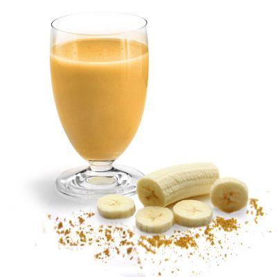 Diät Rezept: Banane-Curry Drink. Fruchtig und Scharf zugleich. Ein toller Abnehm-Drink, der schmeckt :)