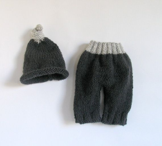 newborn pants and hat set / Hat and Pants by recyclingroom on Etsy, $29.00