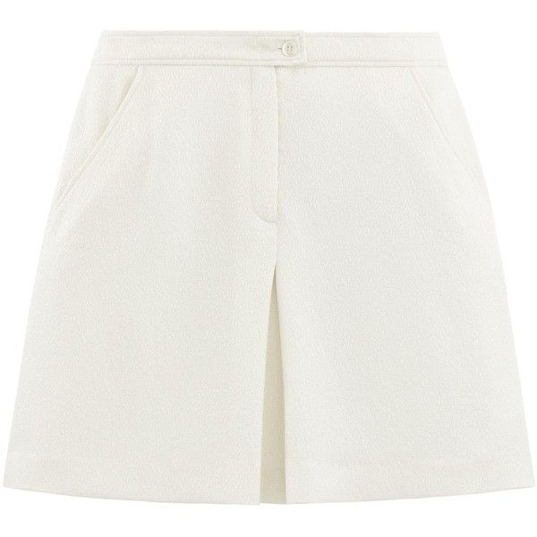 Palace mini skirt ($310) ❤ liked on Polyvore featuring skirts, mini skirts, short mini skirts, zipper mini skirt, short flared skirt, white flared skirt and mini skirt