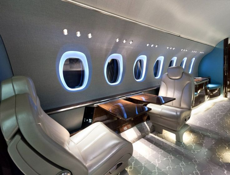 Bedroom Awesome Metalic Design On Expensive Private Jets