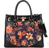 Checkout this amazing product flower printing handbag,$99