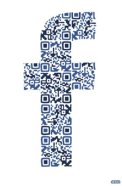 #QRcode #Facebook par #JESS3 http://pinterest.com/networkfindercc/qr-code-design