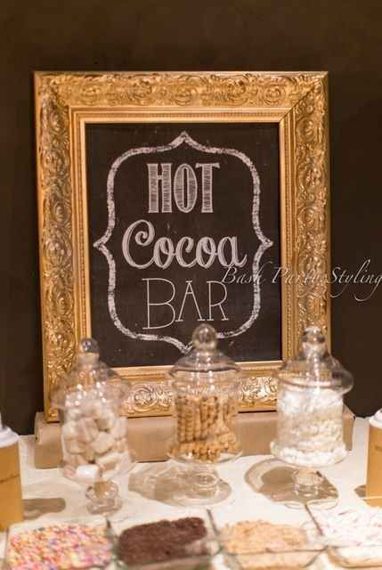Set up a hot cocoa bar.