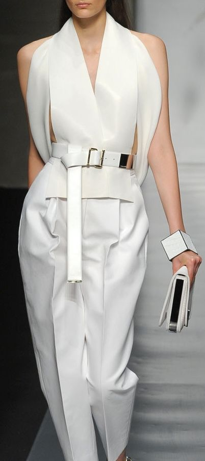 Gianfranco Ferré love this style love all white looks great