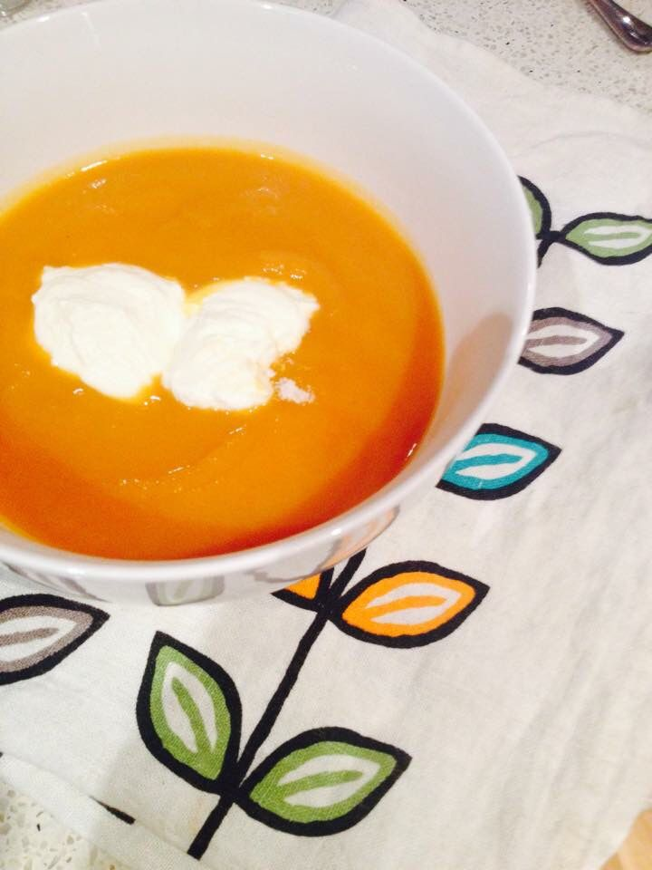 Soothing the soul with some pumpkin soup