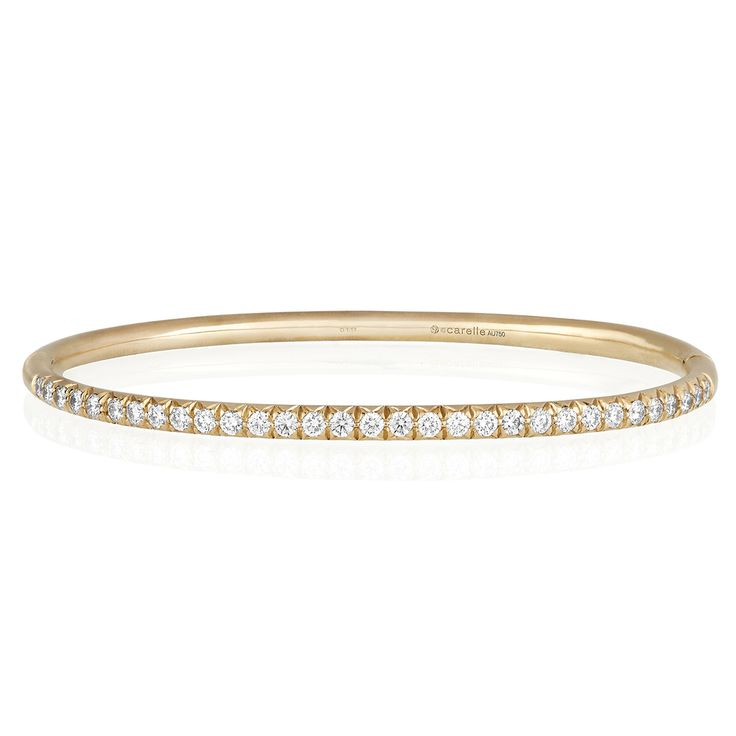 Carelle Jewelry - Moderne Pave Diamond Bangle in Rose Gold, $6,950 (http://www.carelle.com/moderne-pave-diamond-bangle-in-rose-gold/)