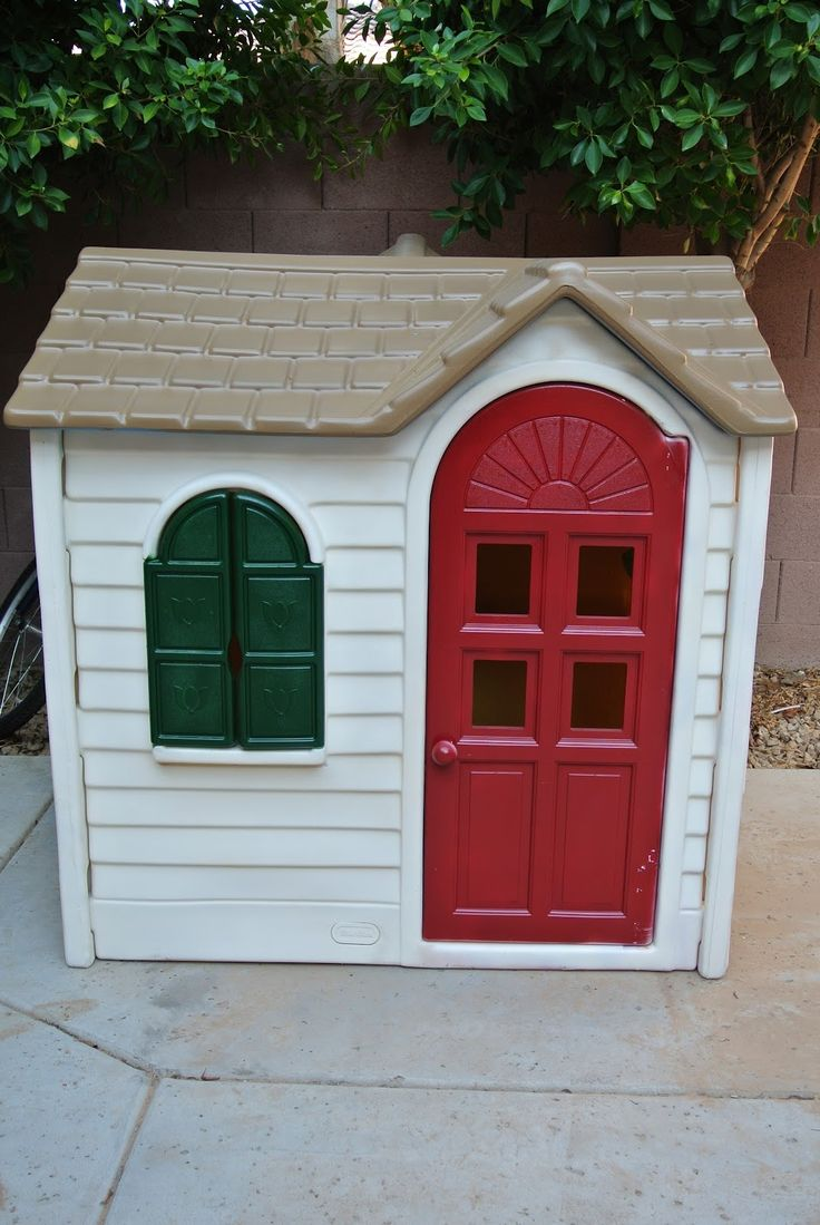 South Meets Southwest: DIY Playhouse Makeover, oh I think our little tykes house will be getting a paint makeover soon