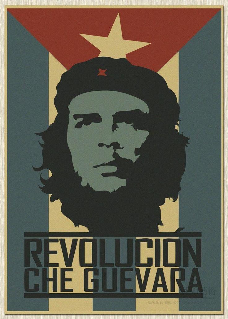 retro Che Guevara posters kraft paper Wall Poster Big Room Photograph Prints Cuba soldiers Revolution