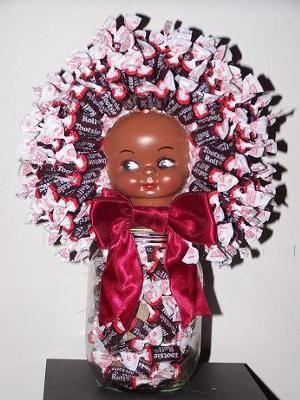 Candy Doll Jar Handmade Candy Doll Jar S Made With Candy Of All Kind Satisfy Your Sweet Tooth