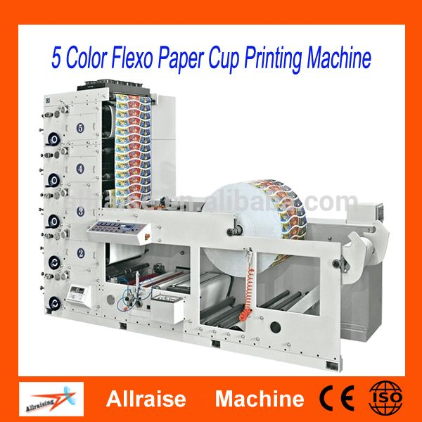 Automatic 5 Color paper cup Flexo printing machine