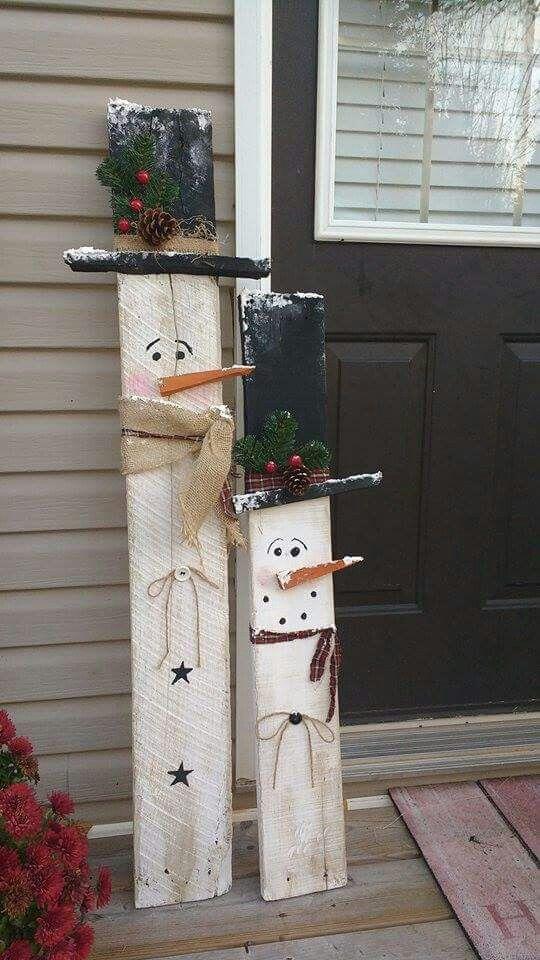 Primitive handmade snowman