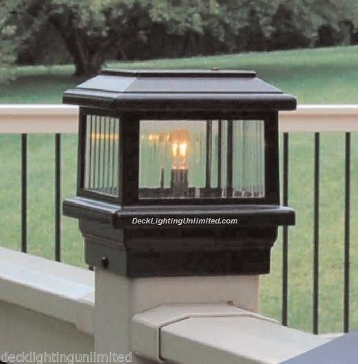 Aurora Titan Deck POST LIGHT, 12V low voltage, 18W, choice of post size & color