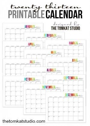 Free printable calendars - Print at home
