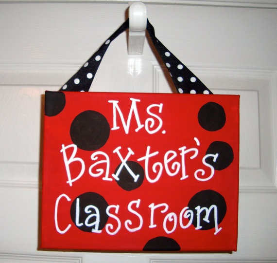 Teacher name sign to make