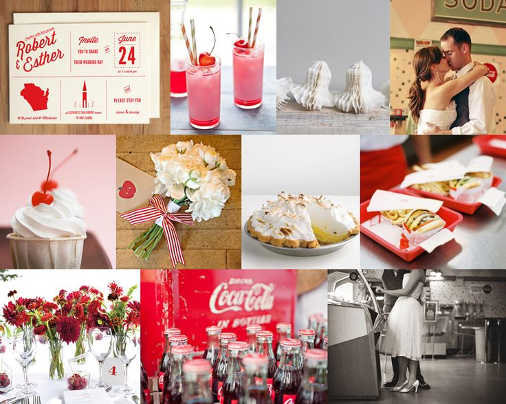 Diner And Dancing Red Budget Friendly Wedding Inspiration Snippet Ink