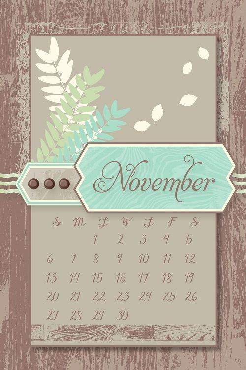 Calendar Wallpaper Iphone X : November desktop calendars swimming in stamps